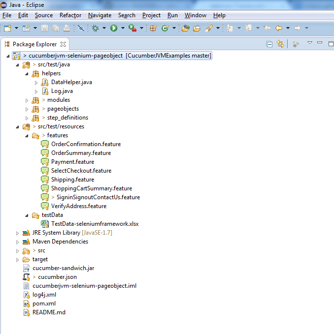 selenium-page-object-eclipse-project-structure